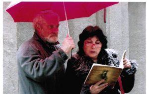עם יוליק ליד קבר הגאון2011