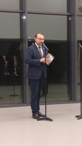 שר התרבות של ליטא, בטקס פתיחת התערוכה